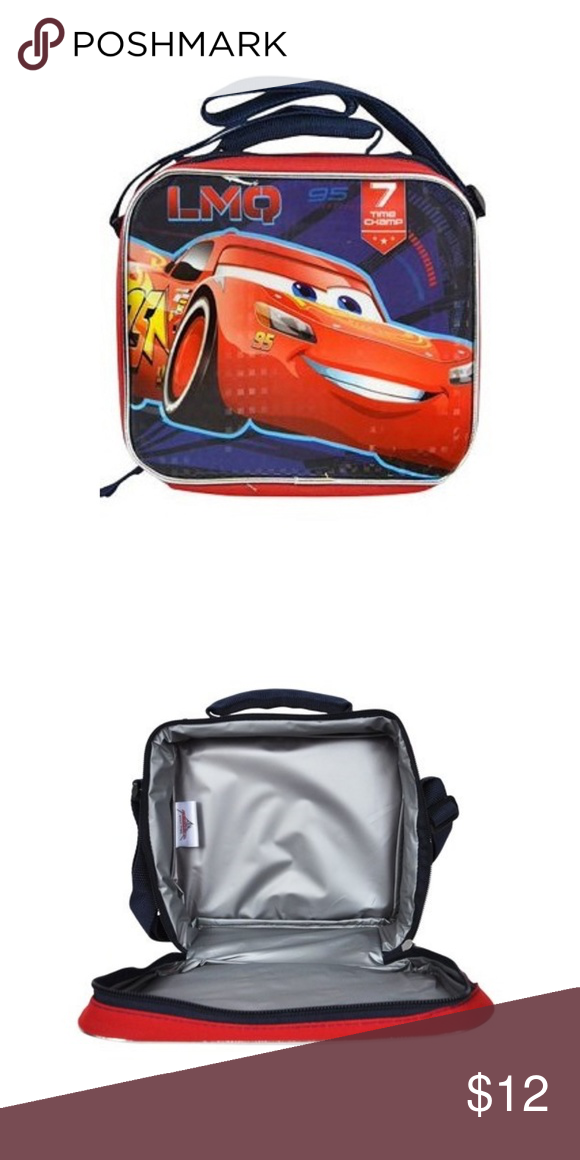 bffb2ff67ee Disney Pixar Cars 3 Children Lunch Bag Brand Disney Model ARKER-LMQ  Material Canvas Character Lightning McQueen Color Multi Color Closure  Zipper Disney ...