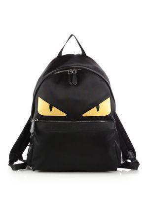 8fa8346578 FENDI Nylon Monster Backpack.  fendi  bags  leather  nylon  backpacks