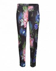 Y.A.S Printhose mit Blumen ´Dark Flower´ schwarz/mischfarben