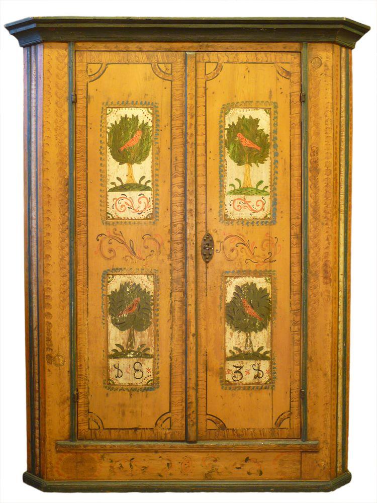 antique tyrolean cabinet, dated 1831 http://www.antichitamissaglia ...