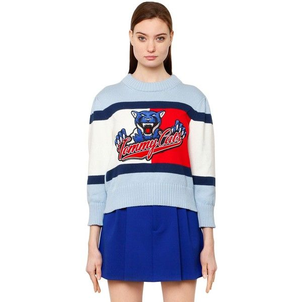 Tommy Hilfiger Collection Women Tommy Cats Flag Cotton Knit