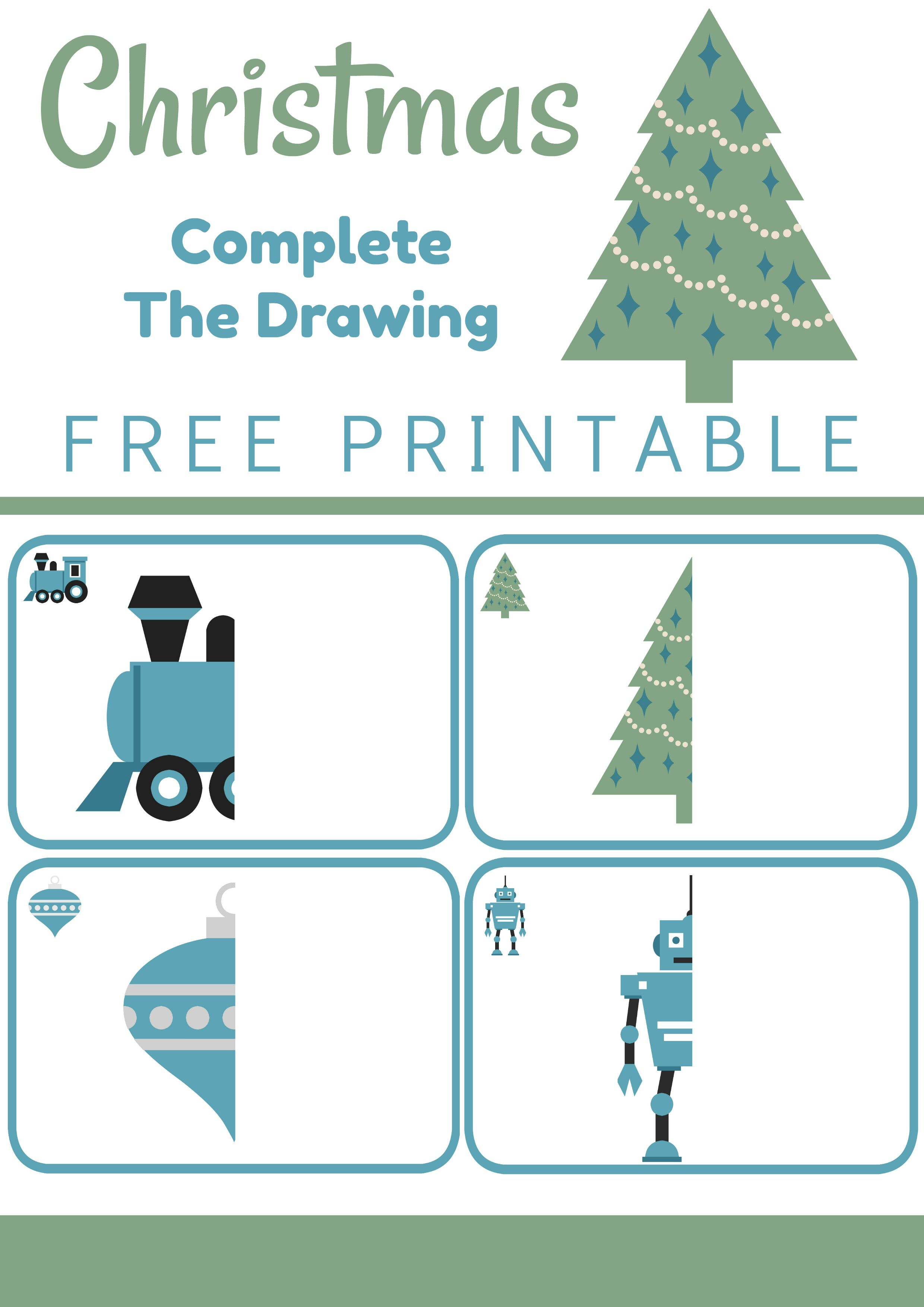 Christmas Complete The Drawing Printable
