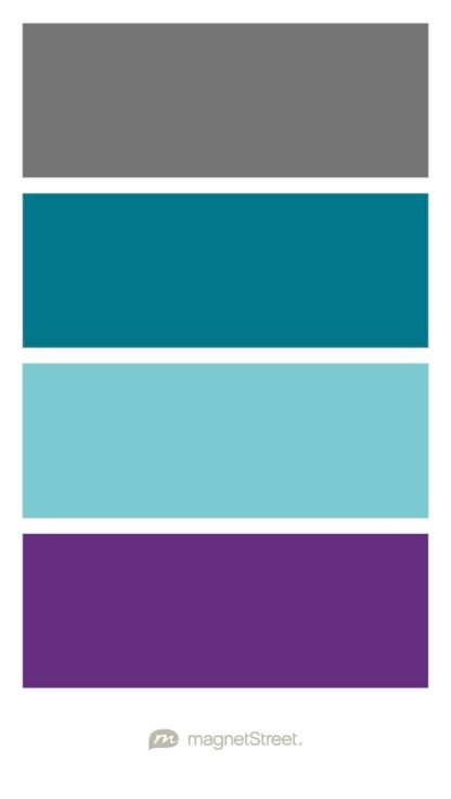 charcoal peacock turquoise and plum wedding color palette custom color palette created at magnetstreetcom