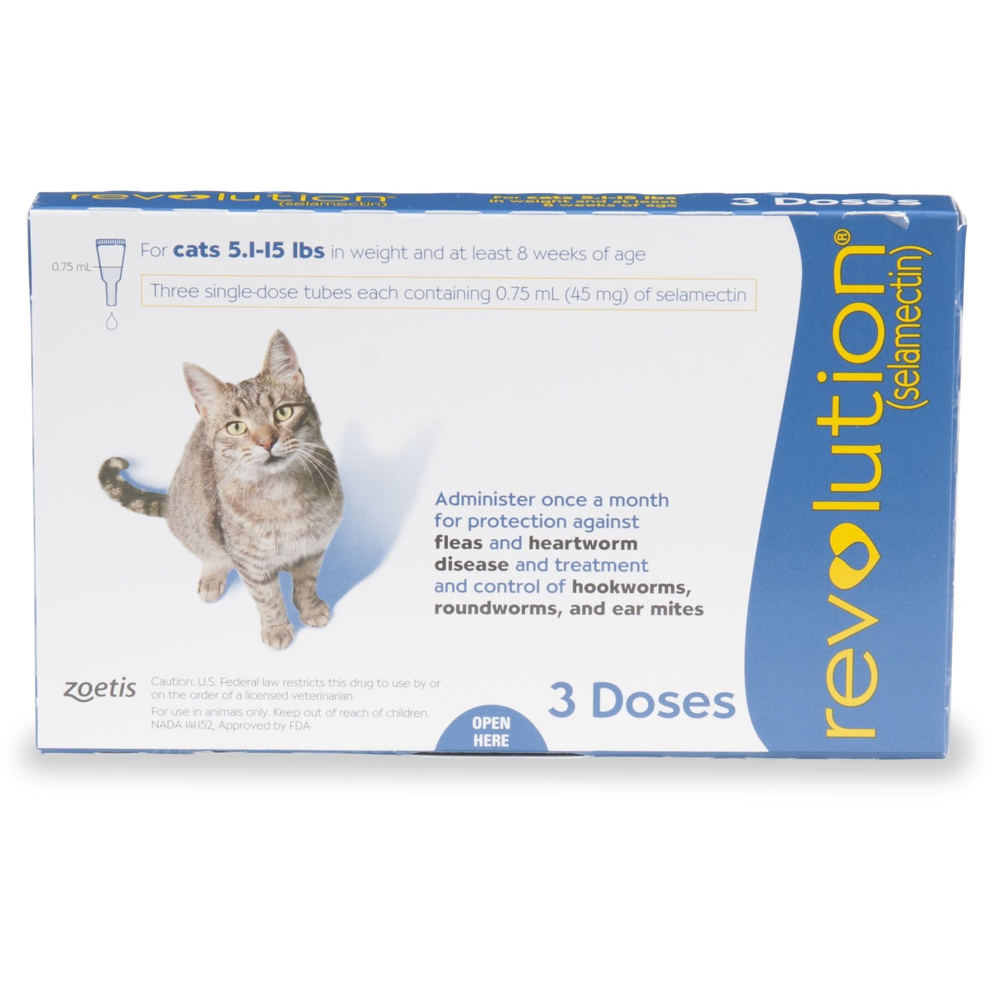 Revolution Topical Solution for Cats 5.115 lbs. Blue, 3