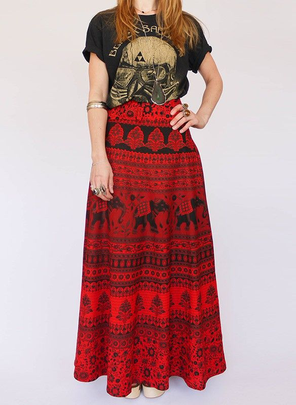 Vintage Ethnic Indiase wikkelrok @ www.secondhandnew.nl