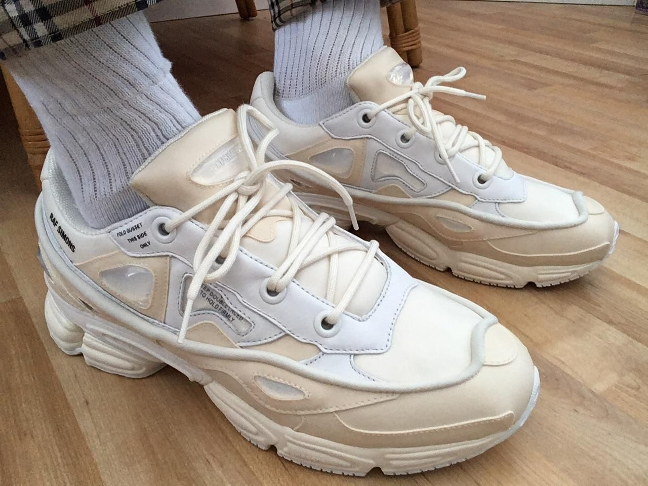 Raf Simons Ozweego Bunny Cream On Foot | Raf simons shoes