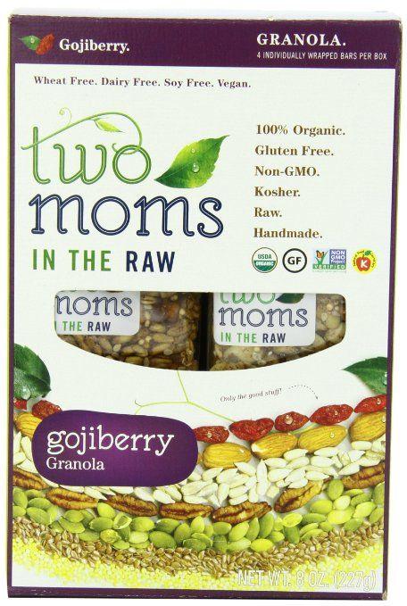 Two Moms In The Raw Goji Berry Granola Gluten Free 8 Ounce Organic Granola Organic Recipes Organic Granola Bars