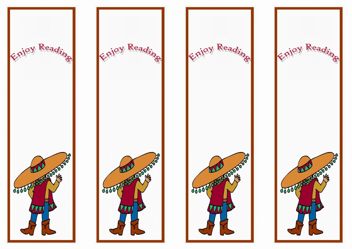Fiesta Mexican Themed Bookmarks Themed Bookmarks