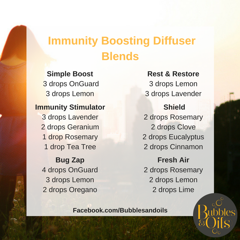 Immune boosting diffuser blends doterra