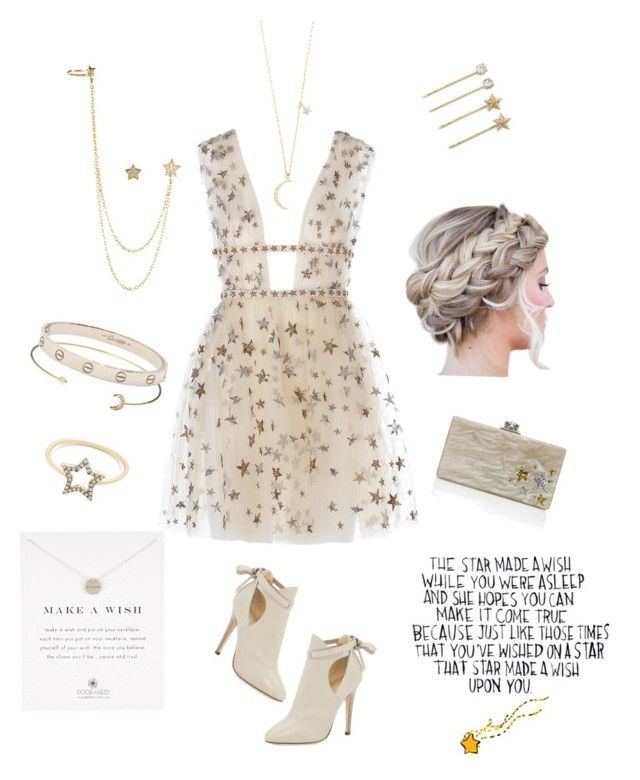 """Wish Upon A Star "" by jennie-bo-bennie on Polyvore featuring Jimmy Choo, Jeweliq, Tai, Edie Parker, J.Crew, Accessorize, Tasha, Cartier and Dogeared"