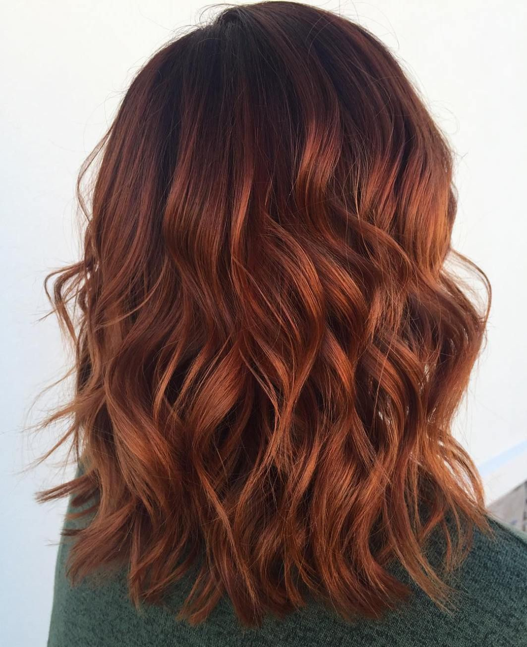 auburn hair colors to emphasize your individuality lob hair