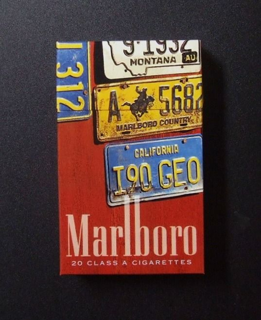 Marlboro with blue stripes