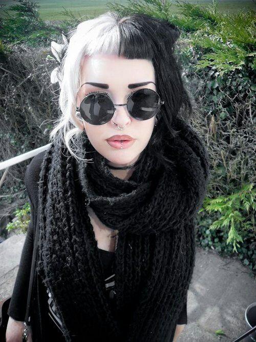 black and white hair. love