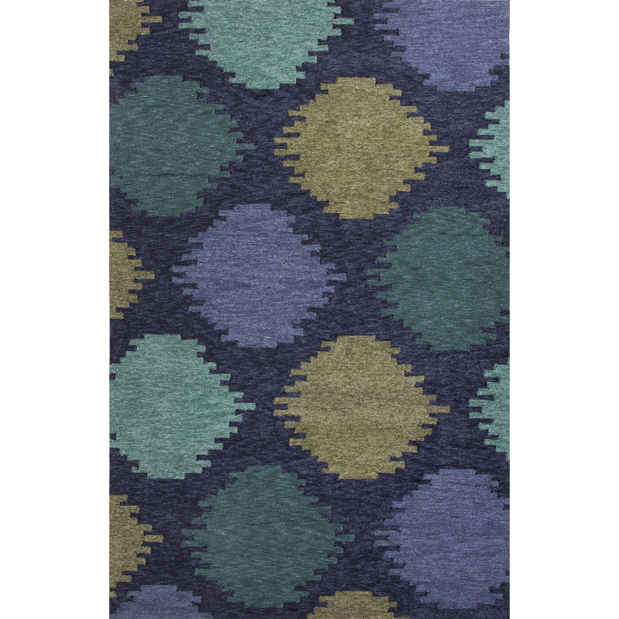 Jaipur Rugs IndoorOutdoor Geometric Pattern Blue/Green Polyester Area Rug CAT07 (Rectangle)