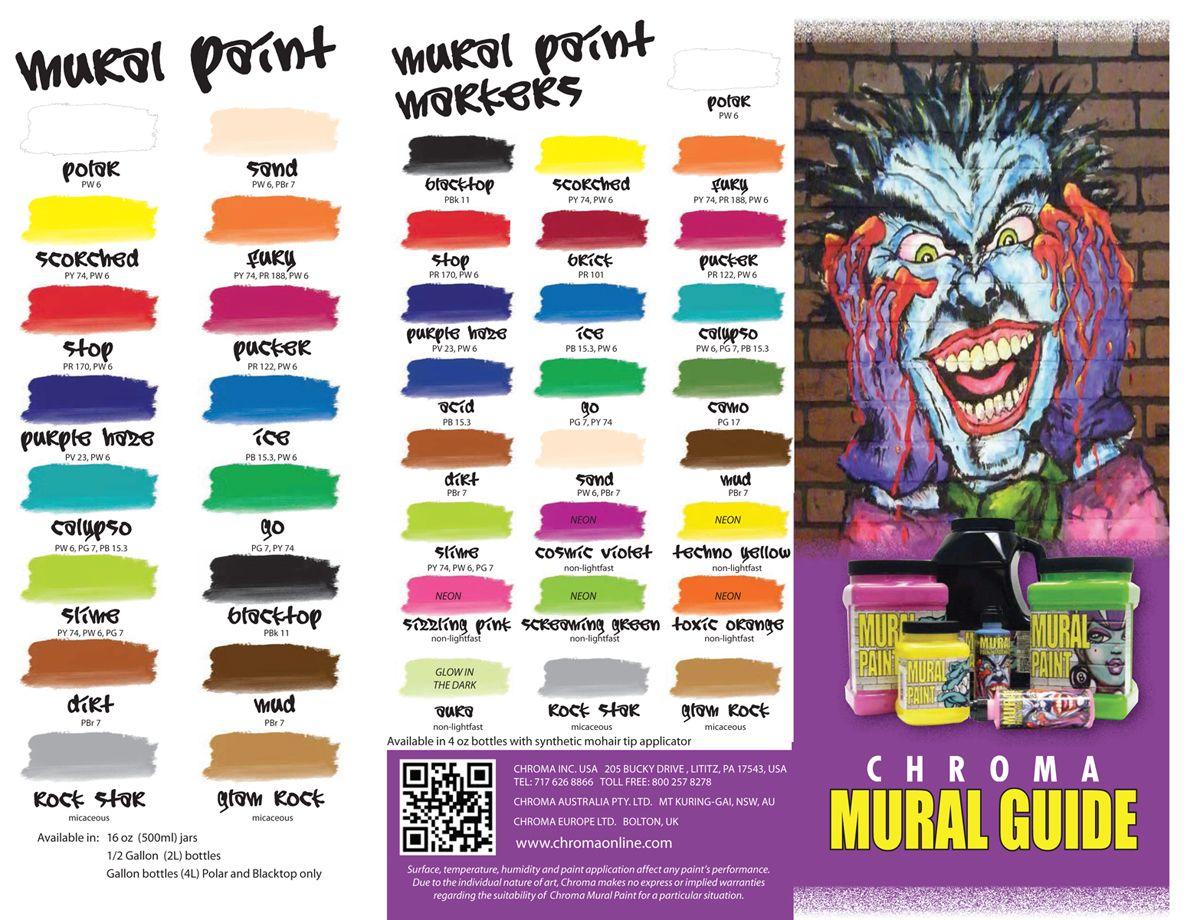 Folk art color chart acrylic paint - Chroma Mural Paint Chroma Mural Paint Markers Colors With Pigments