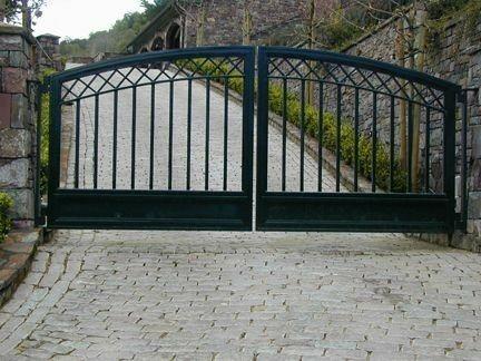 R F Gate Wrought Iron Driveway Gates Entry Gates House Gate Design