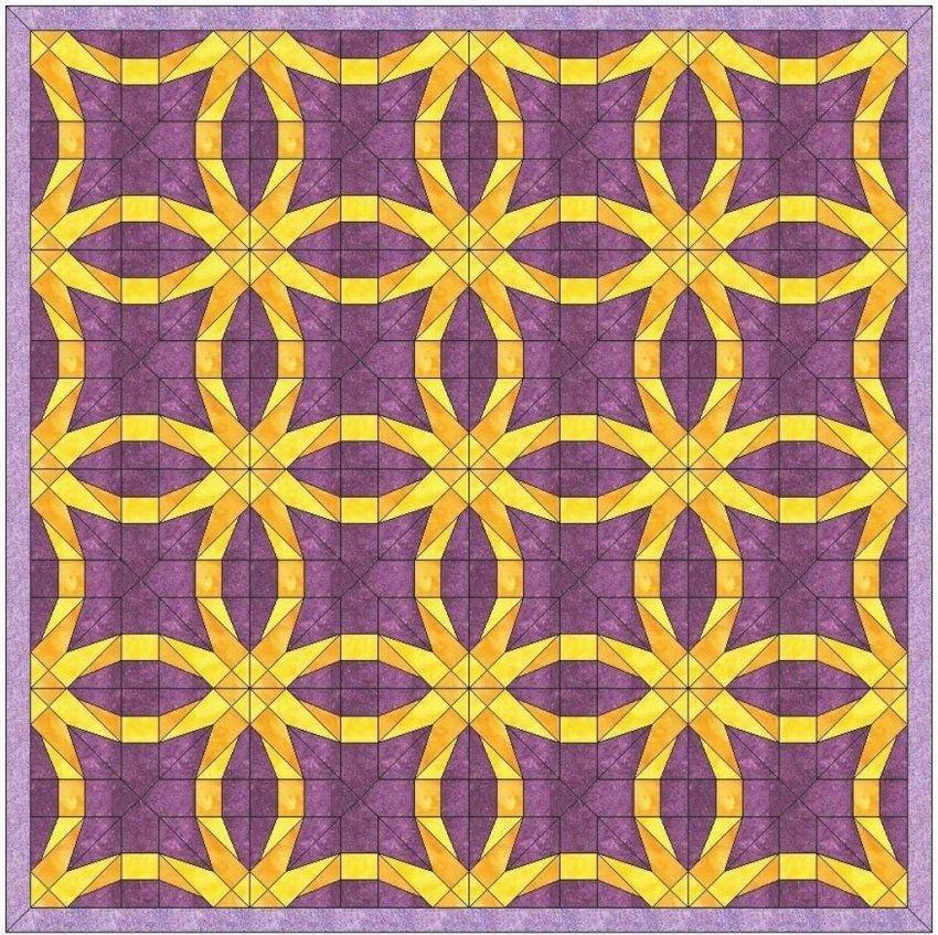 Easy Double Wedding Ring Quilt Pattern Wedding Inspirations