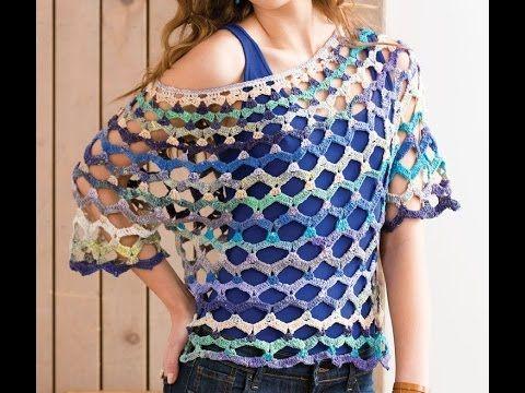 023420ffd Blusa tejida a crochet para el verano - Learn Knitting easy crochet -  YouTube