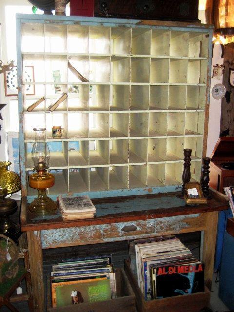 Vintage Postal Sorting Desk - Post Office Mail Sorter - Original Paint  Finish Shabby Chic Cottage - Vintage Postal Sorting Desk - Post Office Mail Sorter - Original