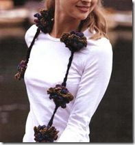 Oversized Crochet Blooms Necklace - Scarf