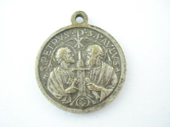 Vintage Saint Peter,  St Paul, Pope Joannes XIII - Catholic Medal