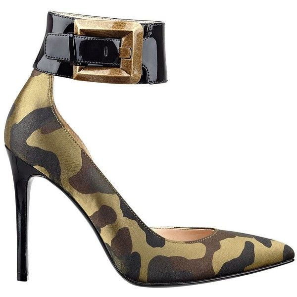 97c73bc7e35e1 GUESS Adal Camouflage Pointy-Toe Pumps. GUESS Adal Camouflage Pointy-Toe  Pumps Green High Heels ...