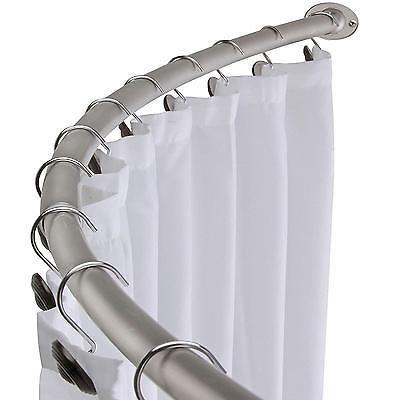 Curved Shower Curtain Rod Adjustable Bath Tub Accessory Satin