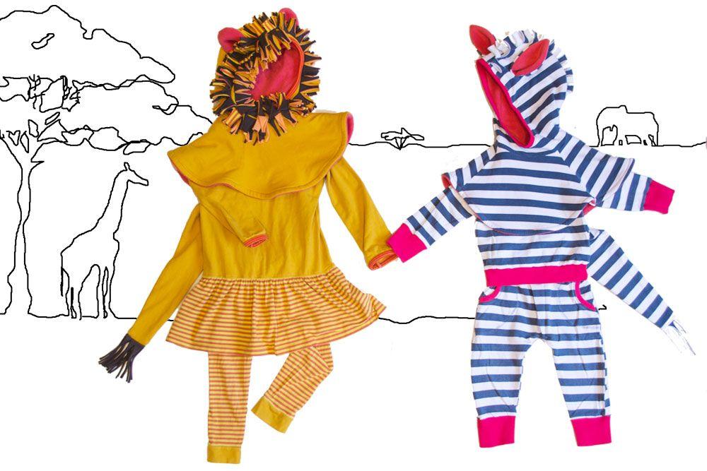 Faschingskostüm Löwe und Zebra nähen   Halloween costumes lion and ...