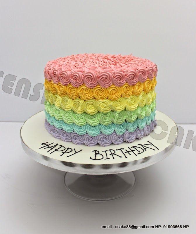 Sensational Cake Singapore Online Cakes Singapore RAINBOW PASTEL