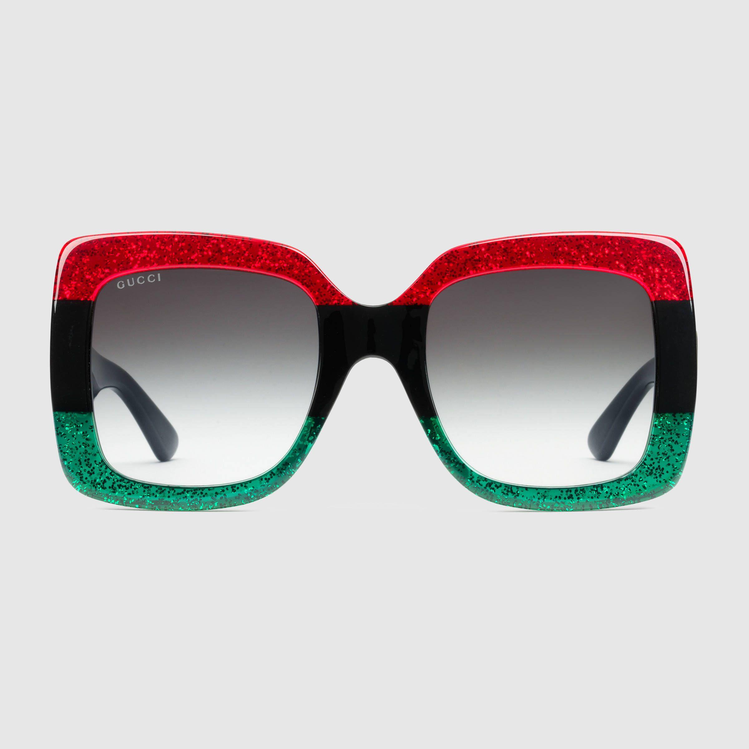 5870fad8ec7 Square-frame acetate sunglasses - Gucci Women s Sunglasses .