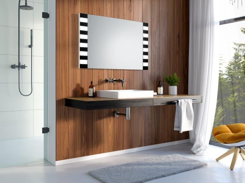 Lustro łazienkowe Zebra LED z oświetleniem LED/Mirror Zebra LED ...