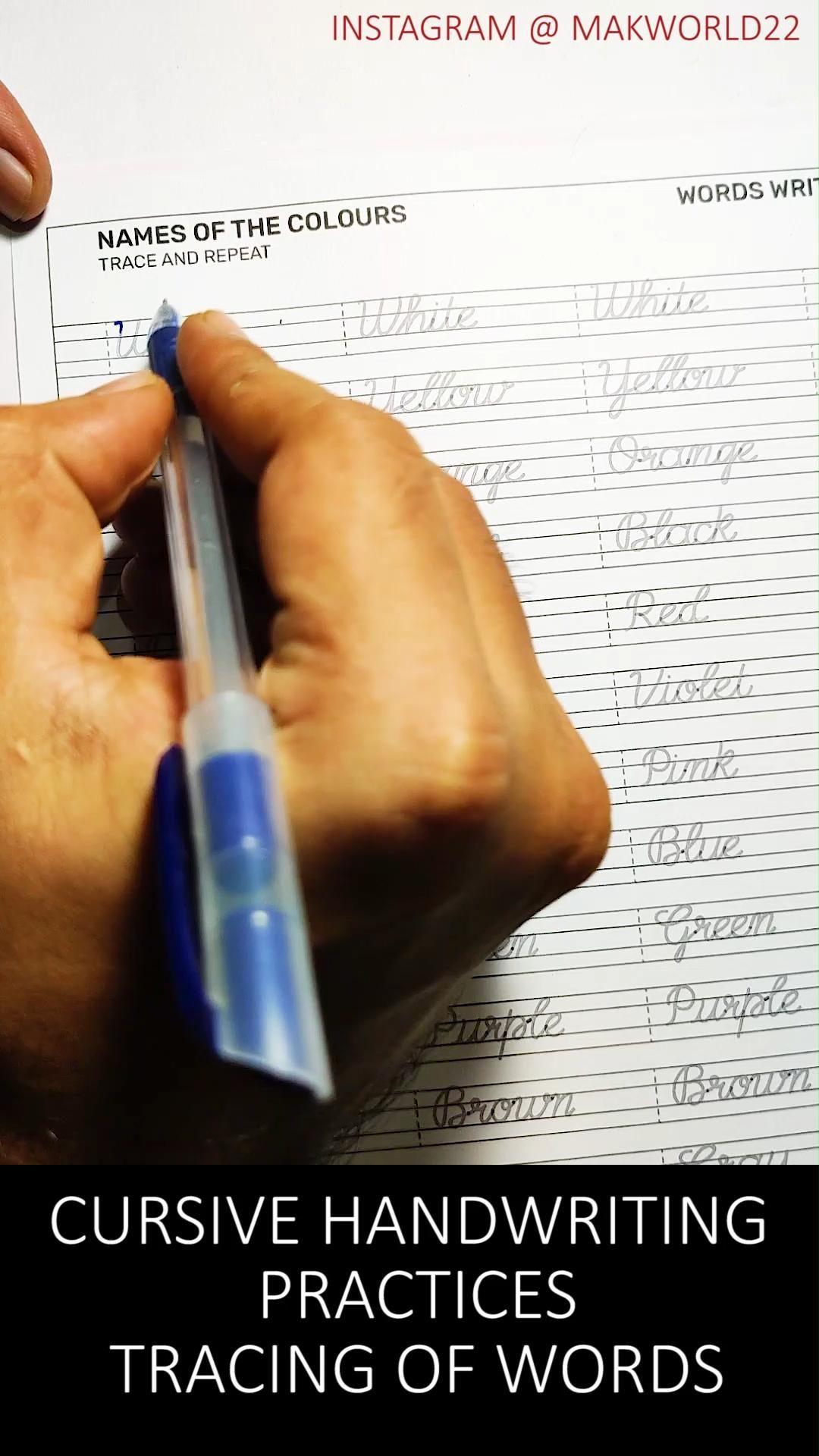 Printable Cursive Handwriting Worksheets Printable Etsy Video Video Cursive Handwriting Cursive Writing Cursive Handwriting Worksheets [ 1920 x 1080 Pixel ]