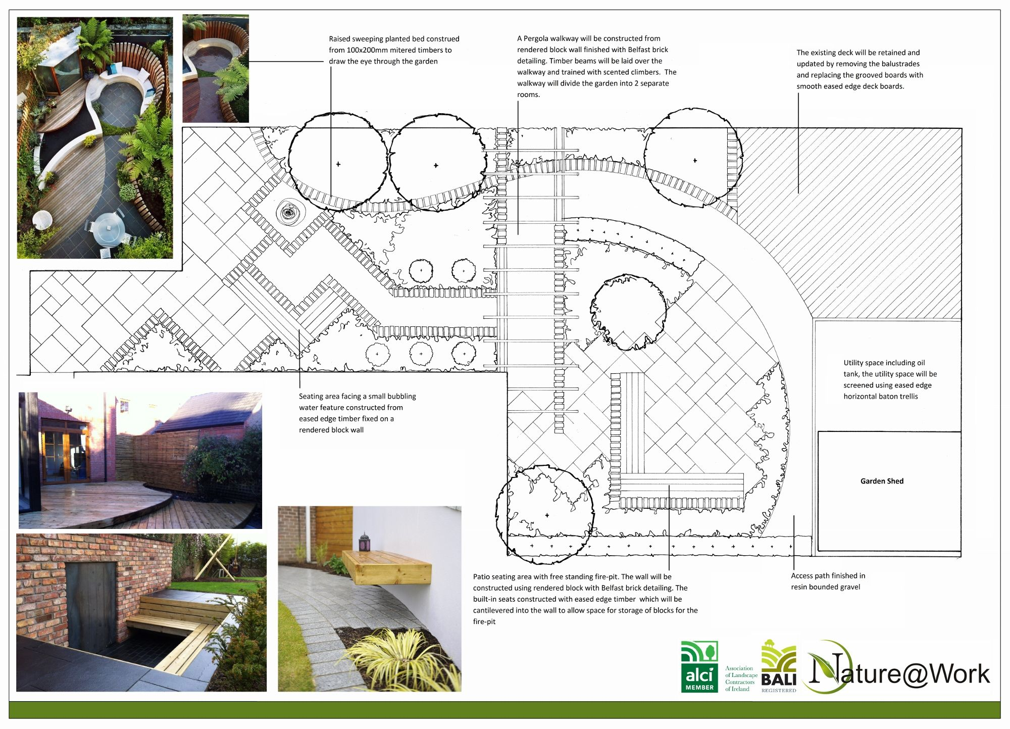 A Design For A Project We Are Constructing In Down Royal County Antrim The Garden Will Include Blac Landscape Plans Garden Design Plans Landscape Design Plans
