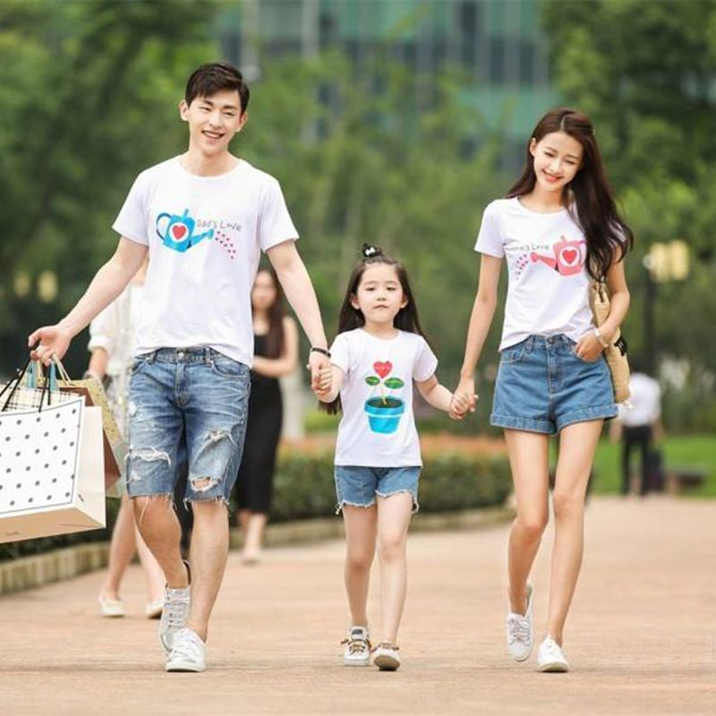12.02US $  1 piece Family cultivate Love Summer Short sleeve T shirt Matching Family Clothing Outfits For Mother Daughter And Father Son matching family matching family clothingfamily clothing - AliExpress