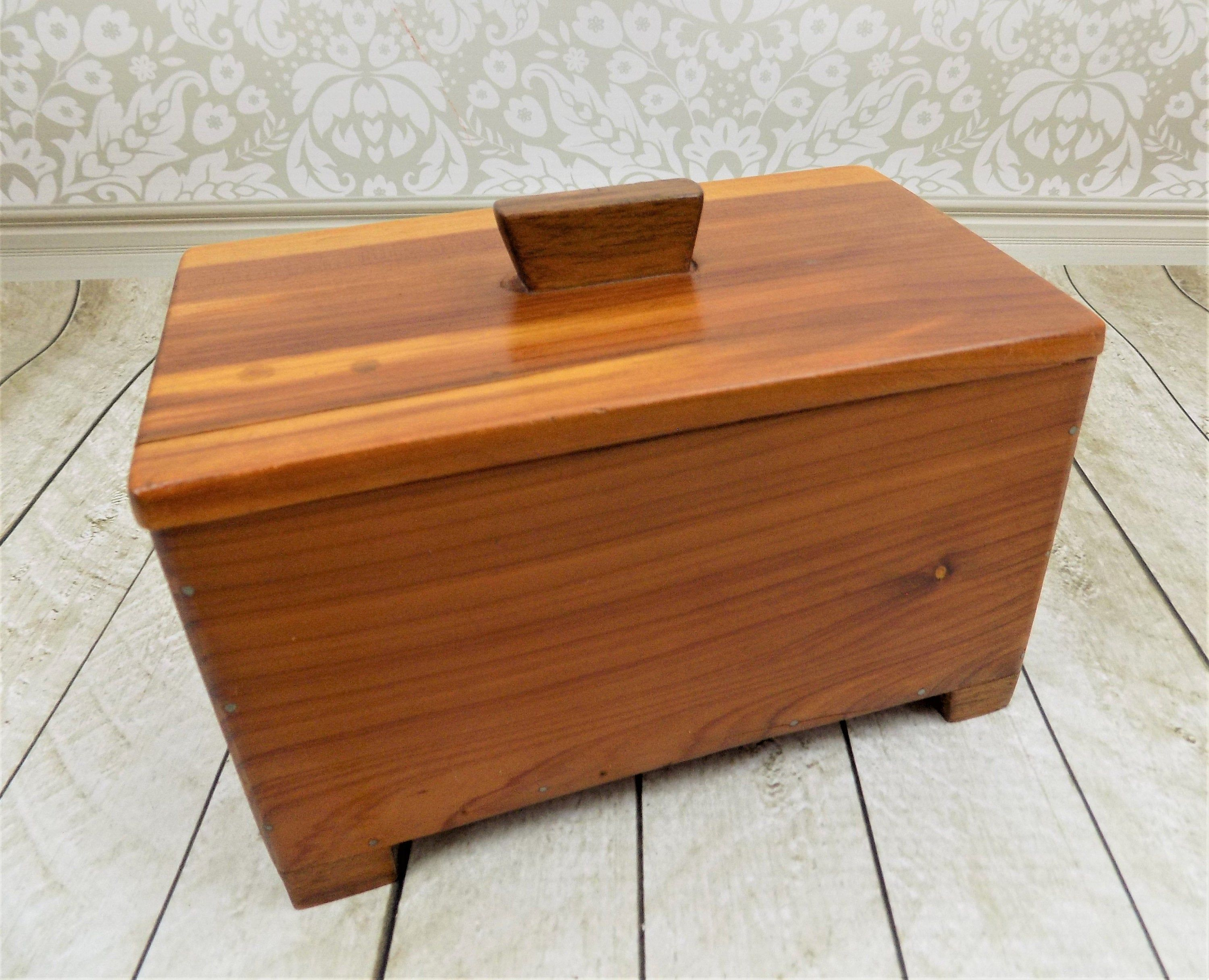 Jewelry Box Wooden Box Gift Box Stash Box Handmade Slide Top Card Box Dove Tail Joints Handmade in the USA 4 by 6 inches