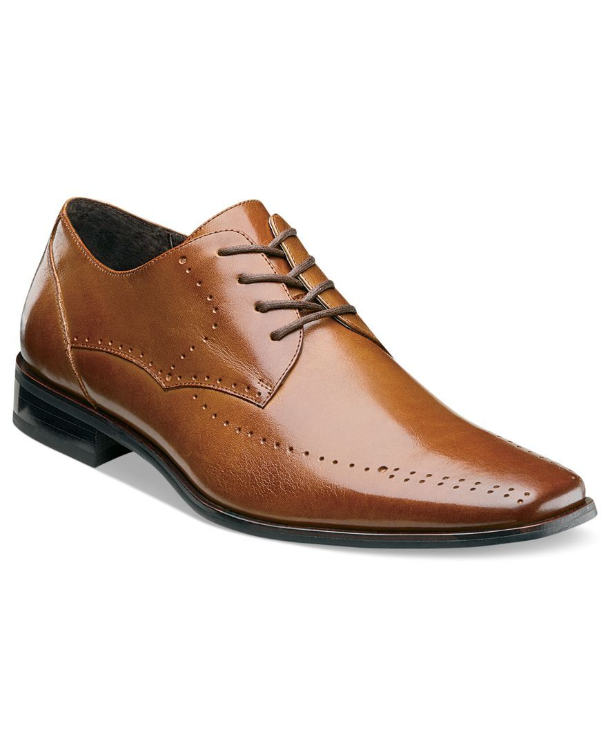 Stacy Adams Shoes, Atwell Lace with Perforated Detail Shoes - Lace-Ups & Oxfords - Men - Macy's