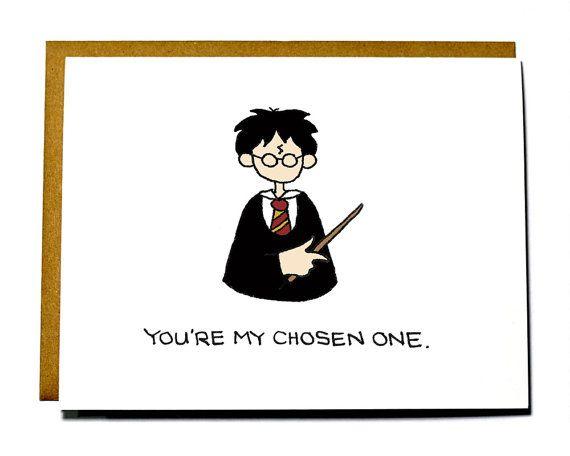 Harry Potter Valentine Funny Geeky Valentine S Day Card Chosen One Harry Potter Valentines Nerdy Valentines Funny Valentine