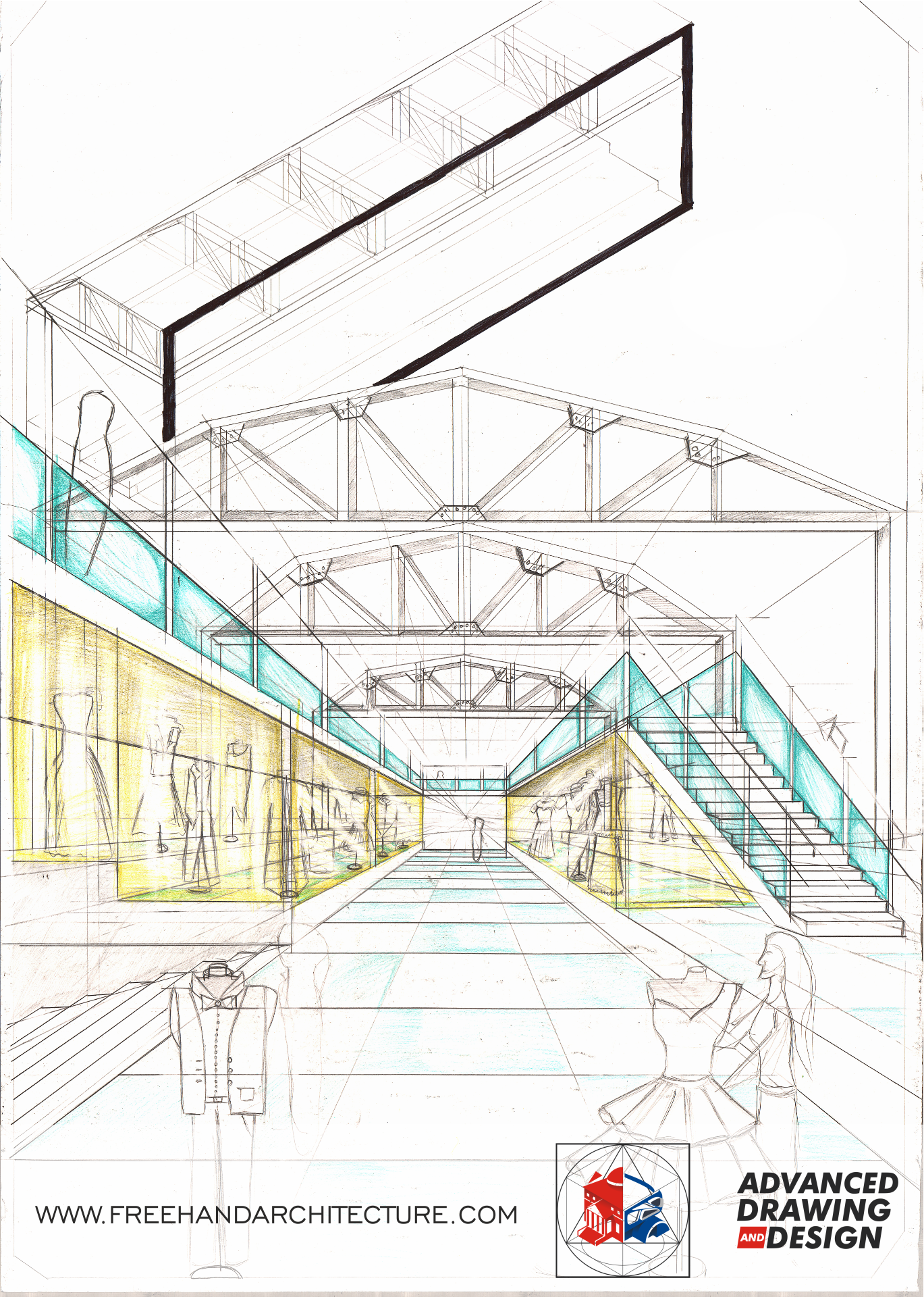 Pin By Freehandarchitecture On Beginner Drawings