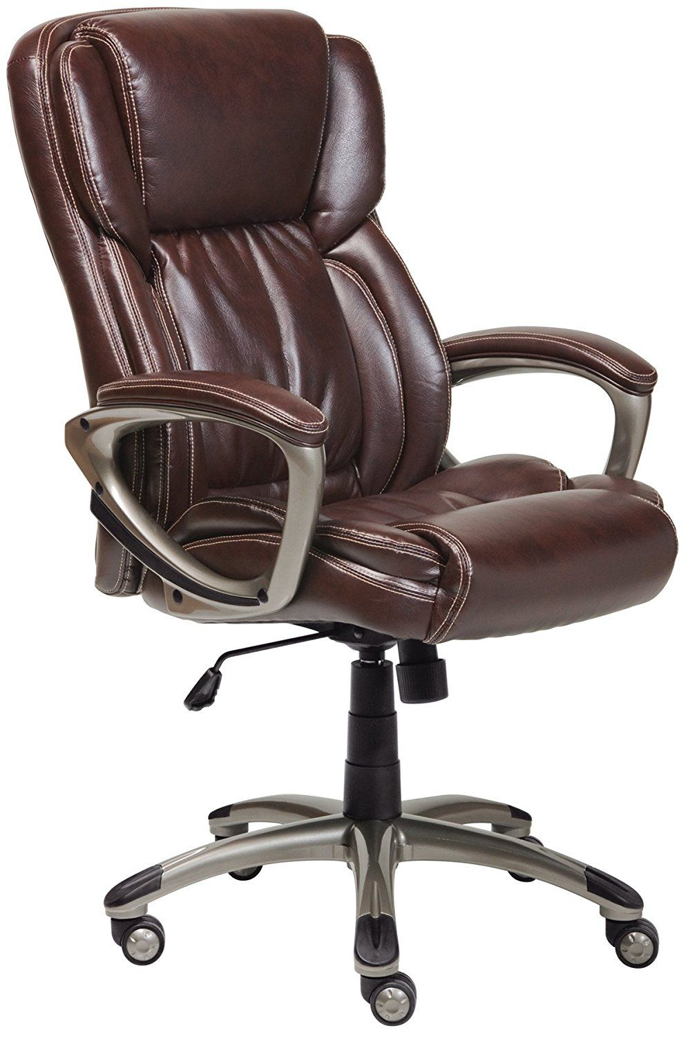 true innovations simply comfortable bonded leather executive chair