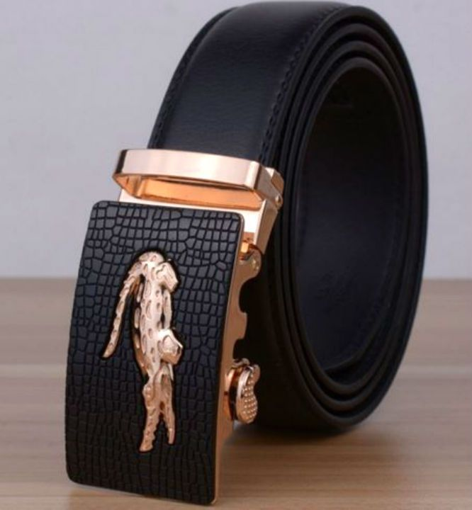 ZABARDO HOMME BLACK COWSKIN GENUINE LEATHER BELT 2016