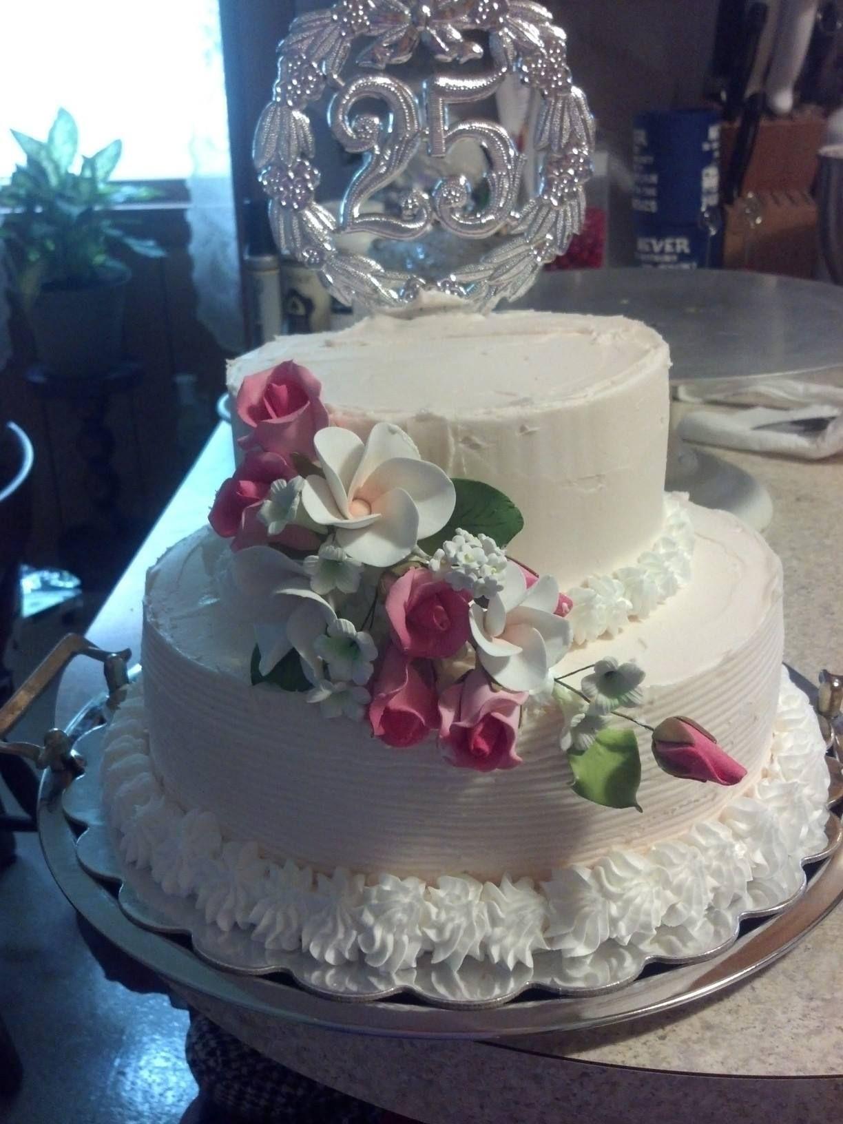 25th anniversary cake 6 9 silver wedding anniversary