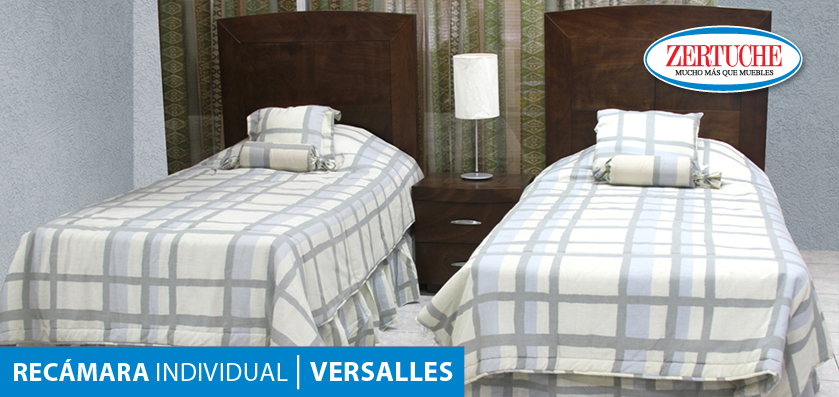 Recámara individual Versalles En estilo moderno, en madera y chapa ...
