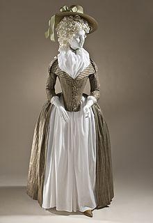 1790 silk redingote. LACMA
