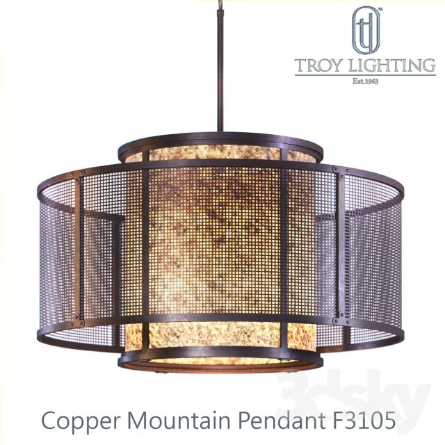 Copper Mountain F3105 Pendant By Troy Lighting