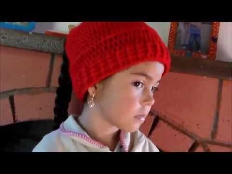 Gorro Con Agujero Para Sacar el Cabello En Crochet ♥ Damary ...