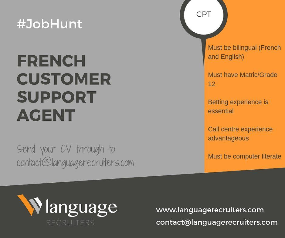 Are You Fluent In French And Looking For An Exciting Job Opportunity In A Fast Paced Fun Environment A Leading Ig Job Hunting Job Search Recruitment Agencies