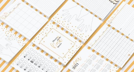 Nail Master Planner Digital Printable PDF PNG ZIP A5 A6 Calendar