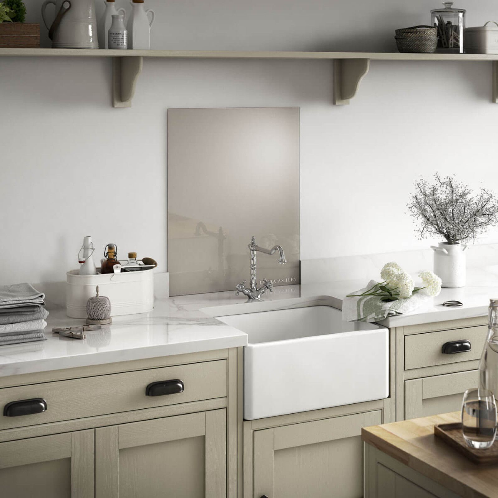 The soft understated colour of the Pumice 600x750mm Splashback from ...