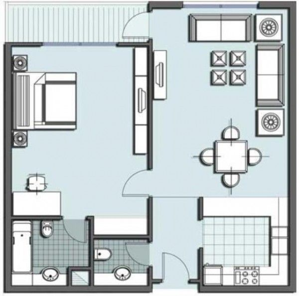 One Room Floor Plan House Floor Plans House Plans Tiny House