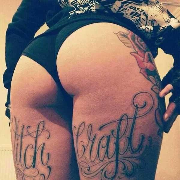 Under Butt Tattoos